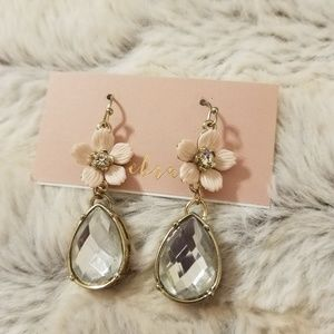 Vintage Flower Teardrop Earrings